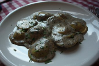 Truffle ravioli