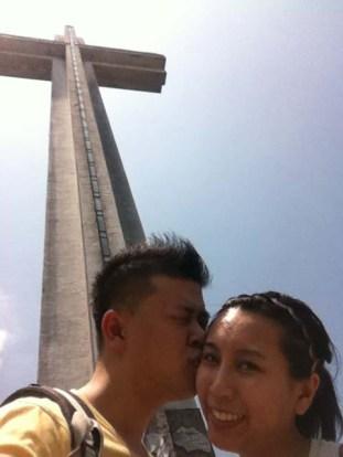 At the big cross!